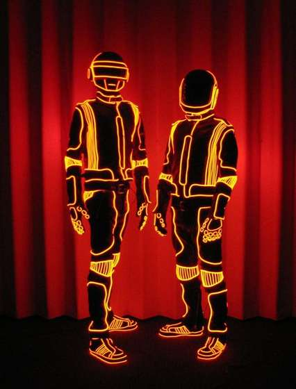 Make your Daft Punk Halloween Costume Glow with El-Wire ...