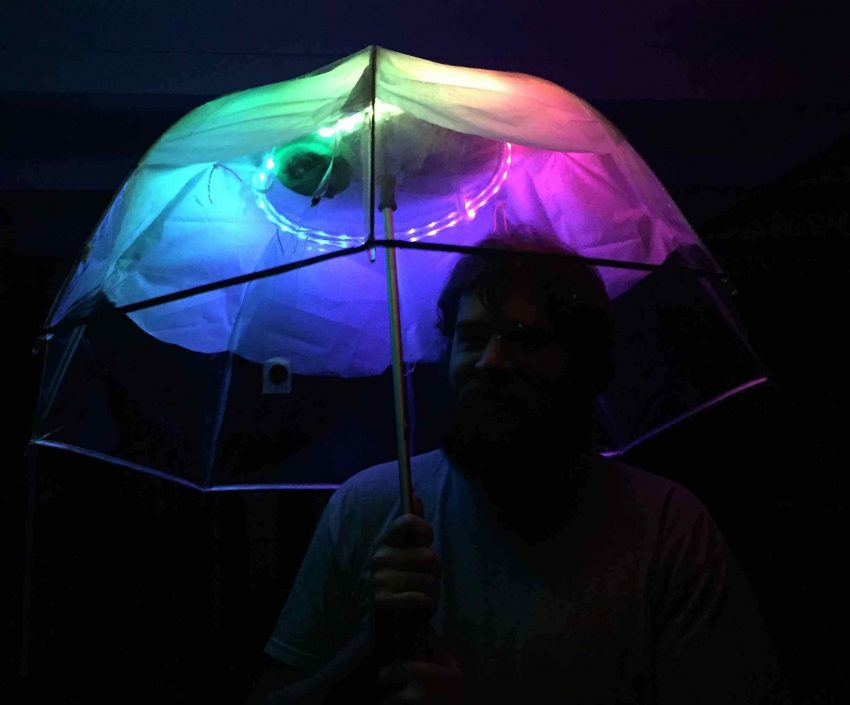LED Arduino Umbrella like UFO
