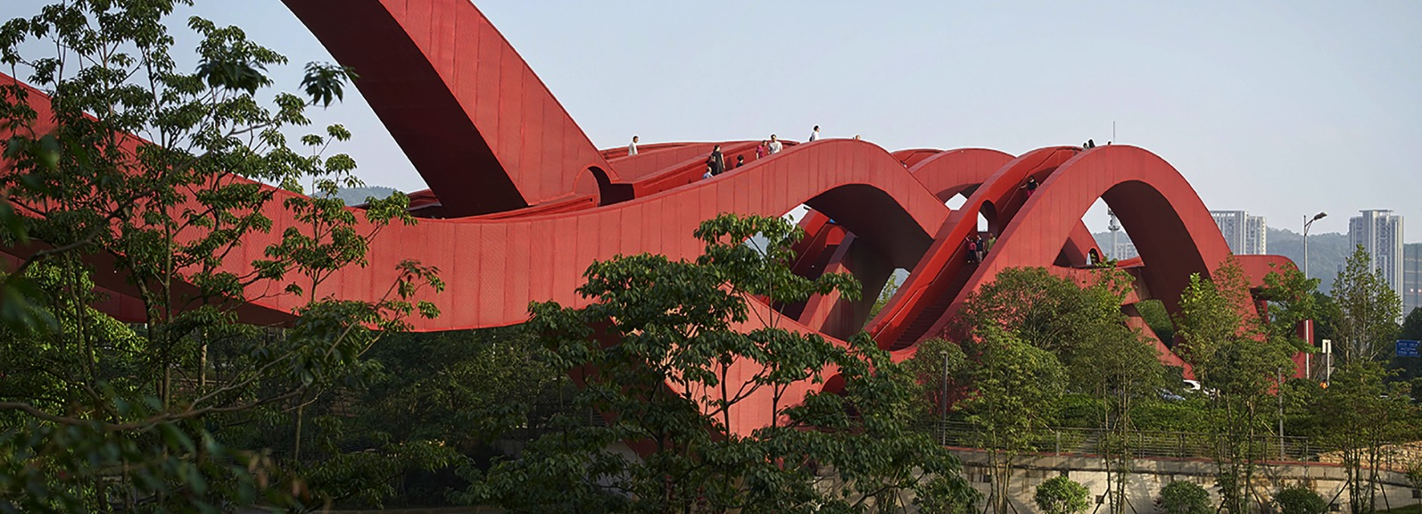 Next architects red lucky knot bridge changsha hunan china designboom 1800