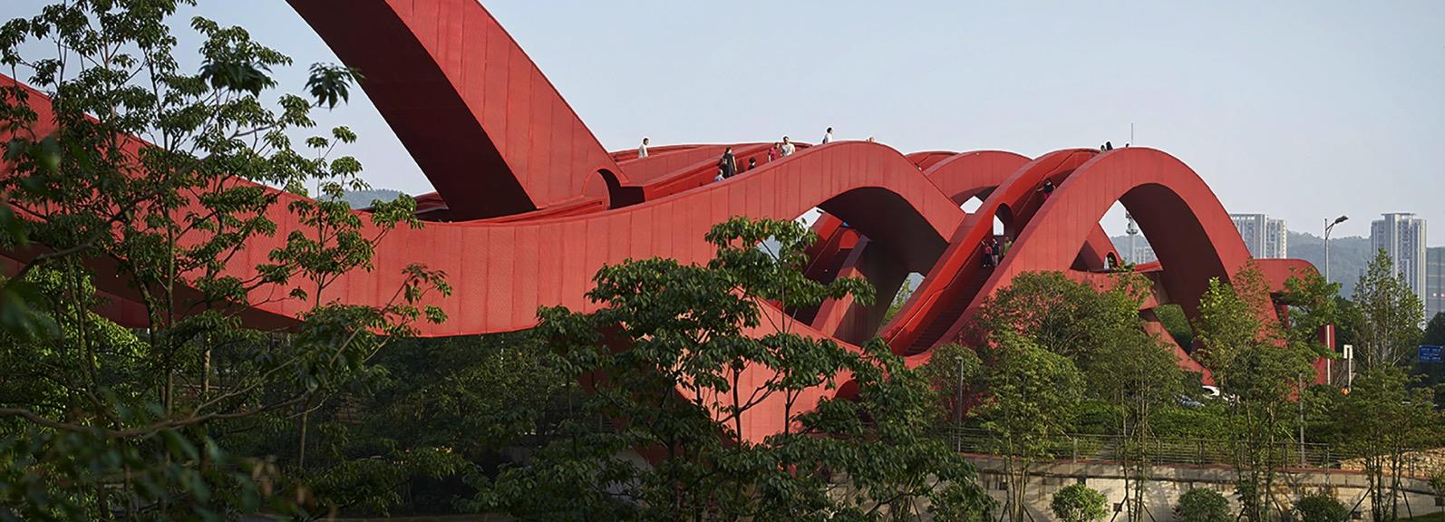 Next architects red lucky knot bridge changsha hunan china designboom 1800