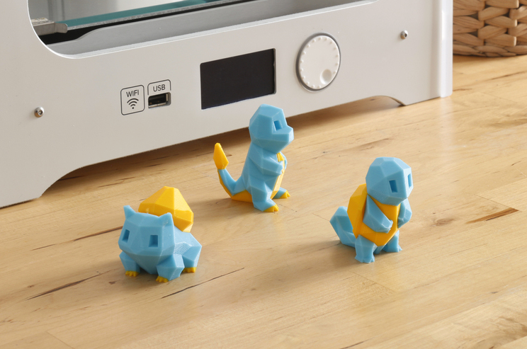 3D Printed Low Poly Pikachu Multi and Dual Extrusion version by FLOWALISTIK Pinshape