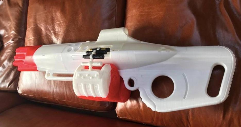 3D Printed The Nemesis Star Destiny Exotic Machine Gun by laellee Pinshape