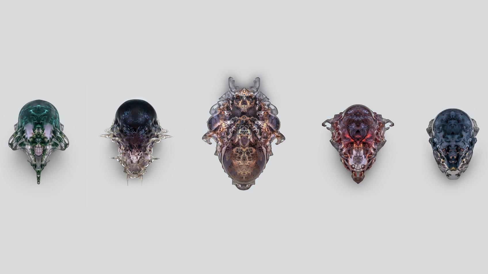 Vespers neri oxman 3d printed death masks mediated matter group dezeen hero