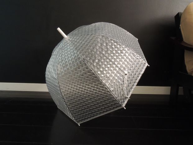Patterned clear umbrella