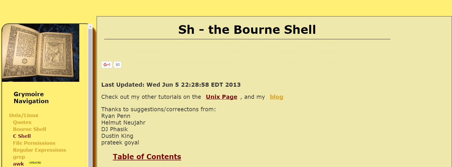 bourne-shell