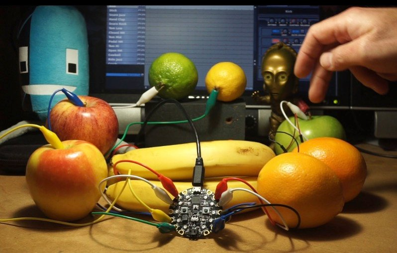 Circuit playground fruit banner
