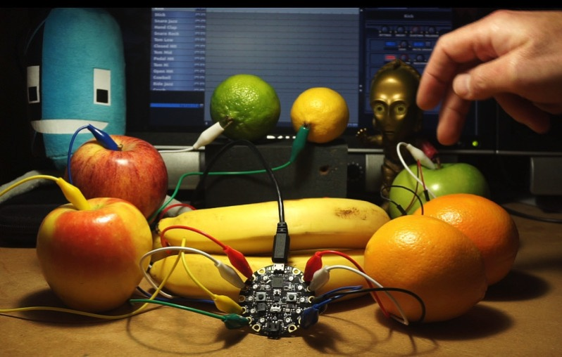 Circuit playground fruit banner