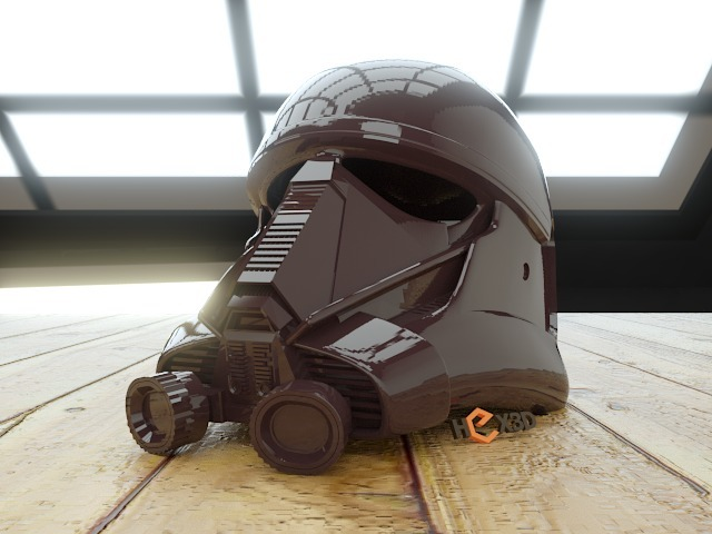 full scale helmet of death trooper rogue one 3dprinting. Black Bedroom Furniture Sets. Home Design Ideas