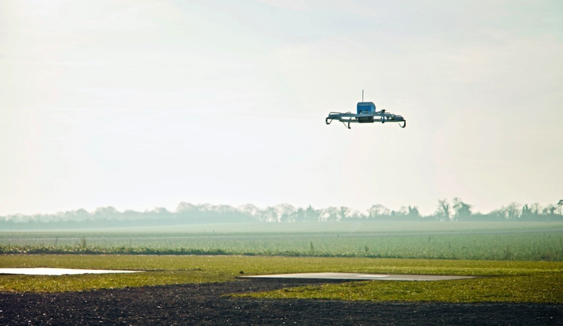 In Major Step for Drone Delivery Amazon Flies Package to Customer in England The New York Times