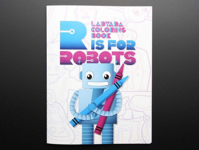 R is for Robots Coloring Book