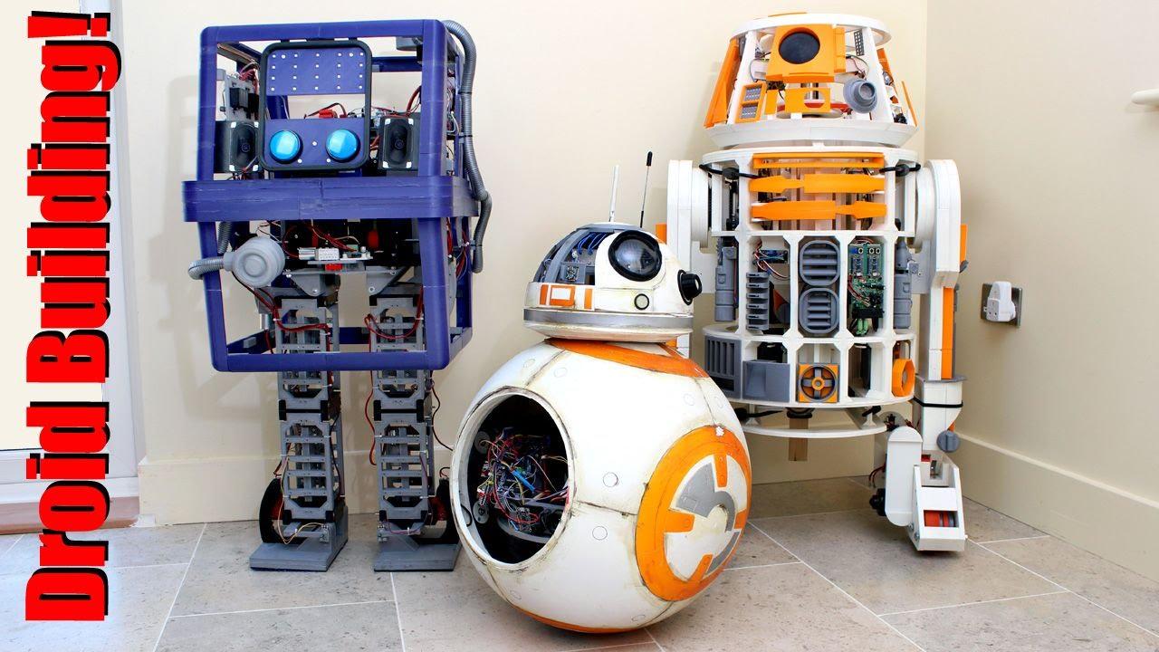 Star wars robot droids d printed mechanics with arduino