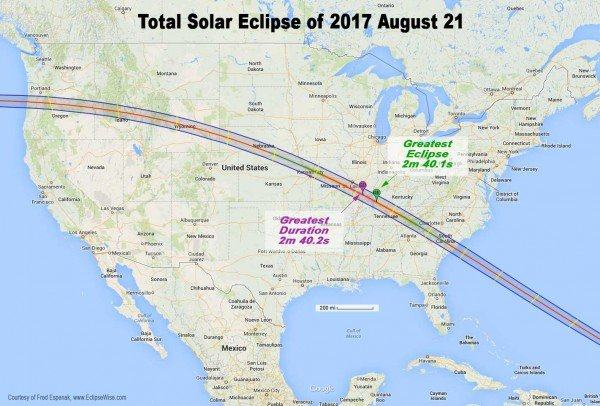 Solar Eclipse Viewing Map