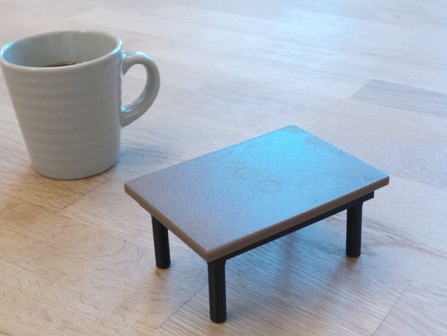 3D printable coffee table coaster v09 preview featured