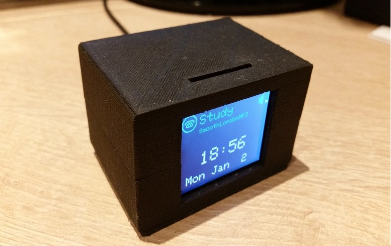 3D Printed Enclosure for Photon with 1 8 Inch TFT LCD Display by Gill Pinshape