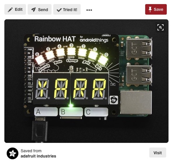 18 Pimoroni Rainbow HAT for Android Things Raspberry Pi Raspberry Pi Pinterest