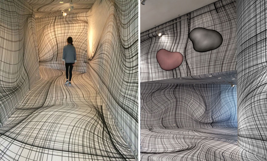 Optical illusion wall art peter kogler 13