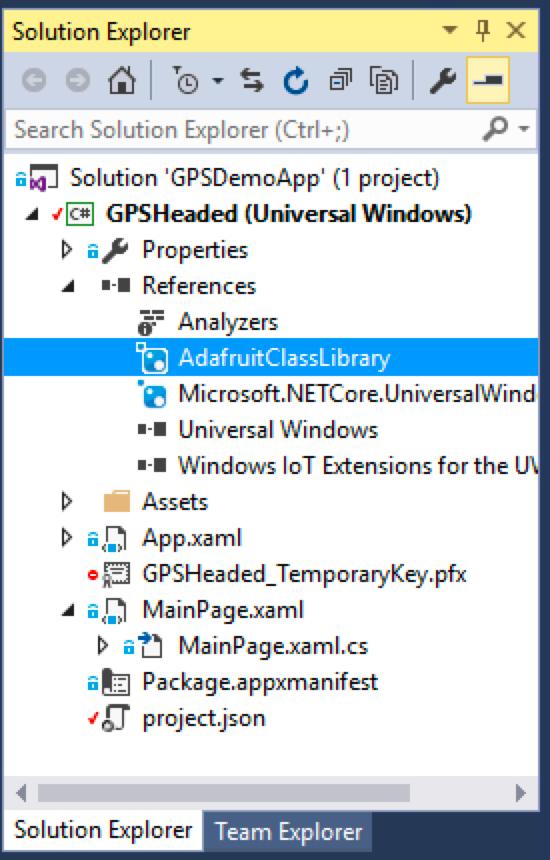 Raspberry pi ClassLibInReferences 1