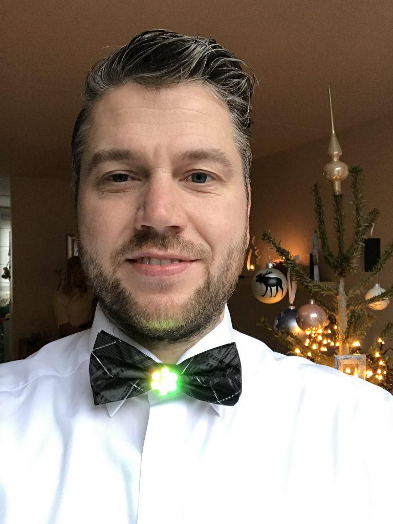 Bow tie with Neopixel Jewel