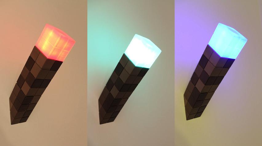 Minecraft Torch Nightlight by orubap Thingiverse