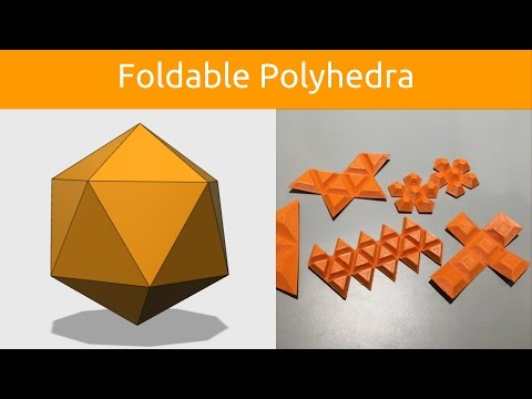 How to Design Foldable Polyhedra in @123DDesign via @XYZAidan #3DPrinting