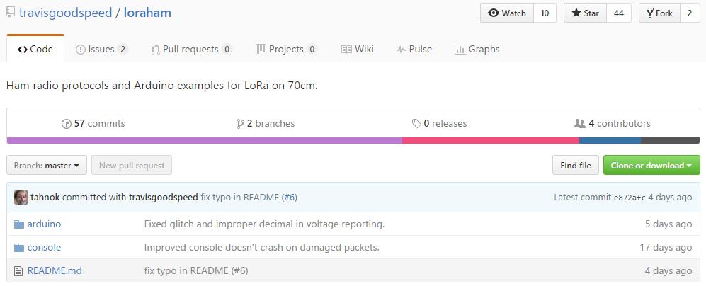 LoRaHam – 'ham radio protocols and Arduino examples for LoRa on 70cm