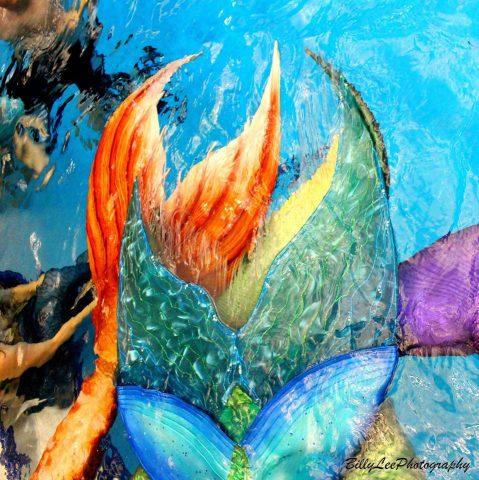 mermaid tail pile
