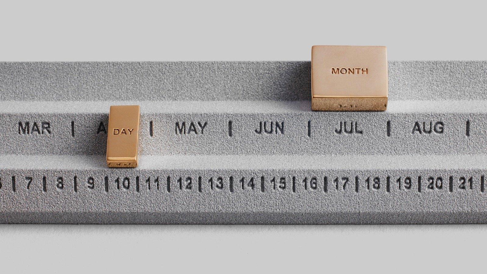 Perpetuum calendar studio yonoh design products dezeen 2364 hero