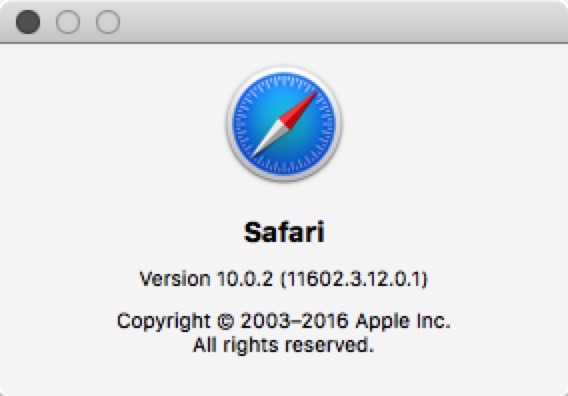 Safari About
