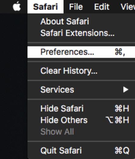 Safari Prefs