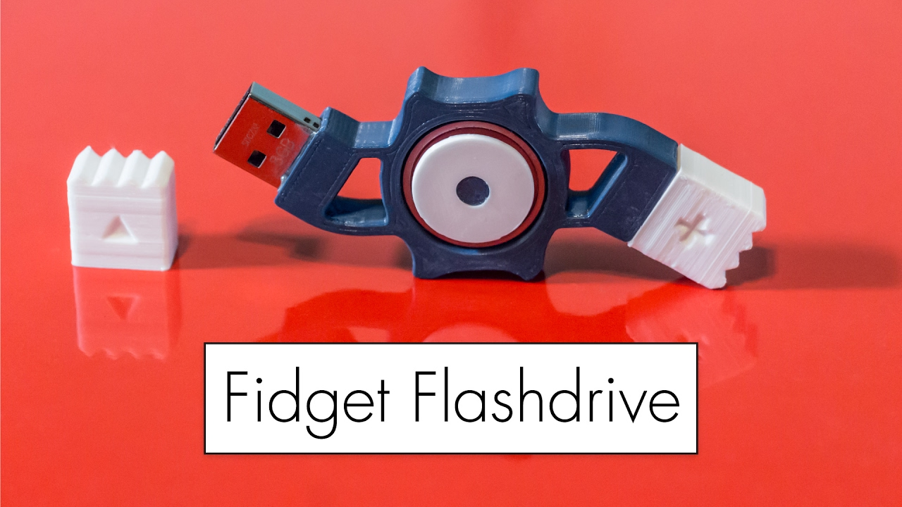 3D Printed Fidget Flashdrive Is Both Useful And Fun MakeAnything3D Adafruit Industries Makers Hackers Artists Designers Engineers