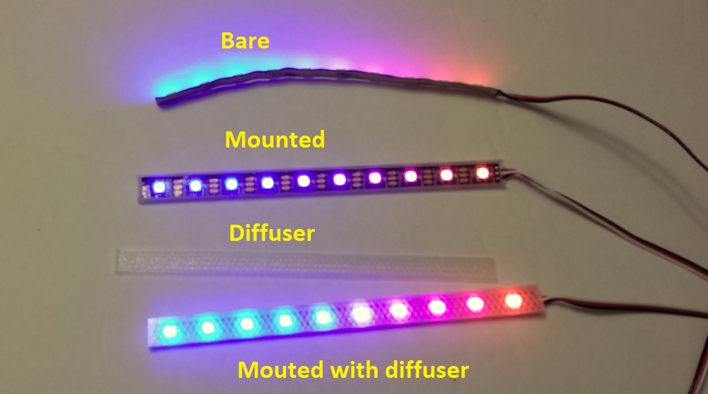 Flexible Led Strip Mount And Diffuser 3dthursday