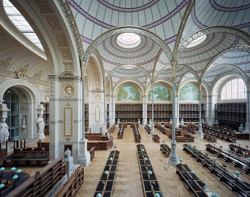 Richelieu quadrangle restoration paris national library france bruno gaudin virginie bregal designboom 02