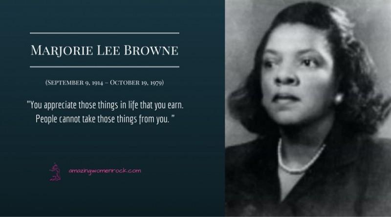 Marjorie Lee Browne #W...