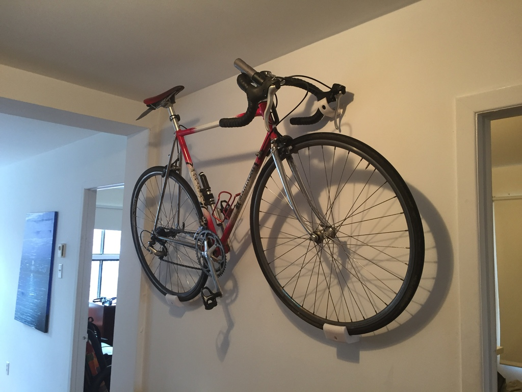 road bike wall mount 3dthursday 3dprinting adafruit. Black Bedroom Furniture Sets. Home Design Ideas