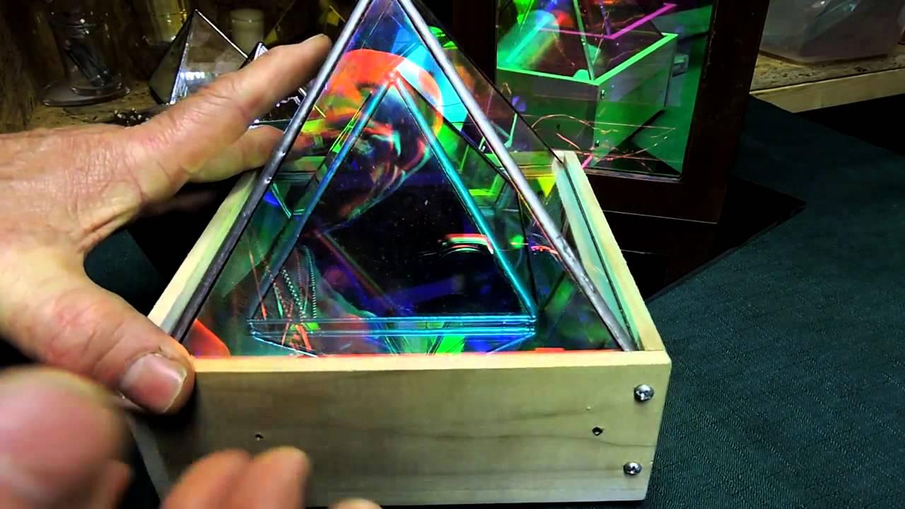 How To Dichroic Glass Infinity Mirror Pyramid Arttuesday