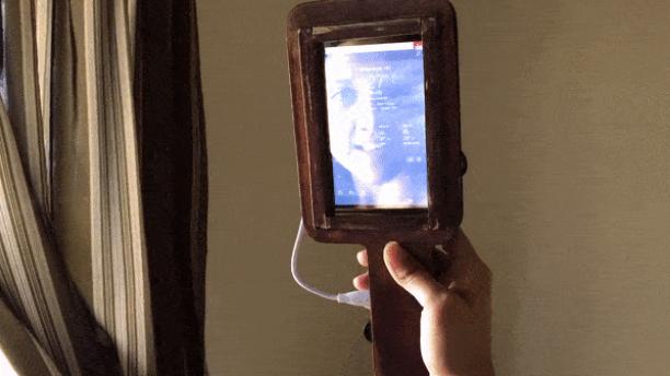 Portable 'handheld smart mirror uses intel compute stick