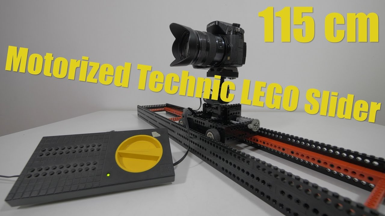 Lego Technic Motorized Camera Slider With Speed Controller Adjustable Gears
