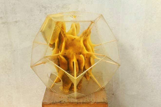 Geometric beehive sculptures ren ri 1 jpg 662x0 q70 crop scale