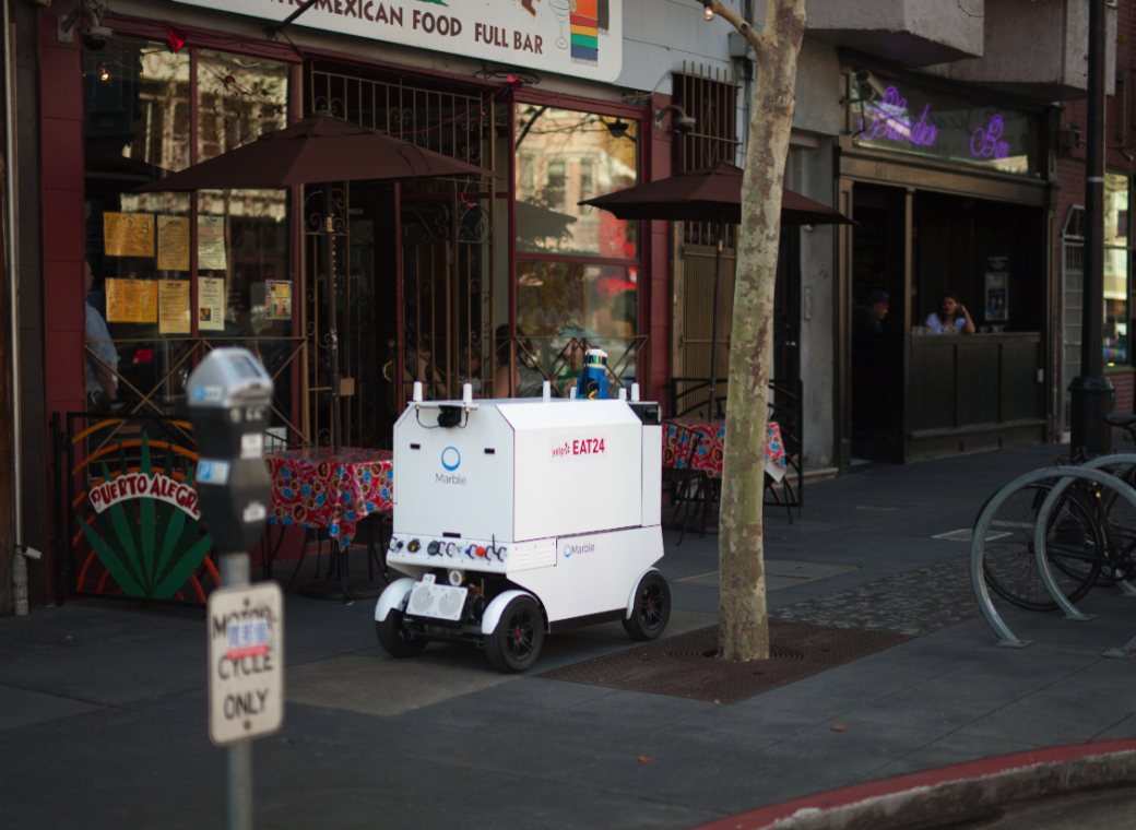 Marble and Yelp Eat24 start robot food delivery in San Francisco TechCrunch