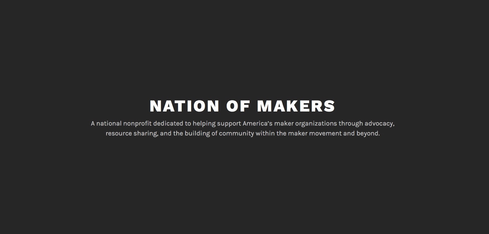 Mission Vision Nation of Makers