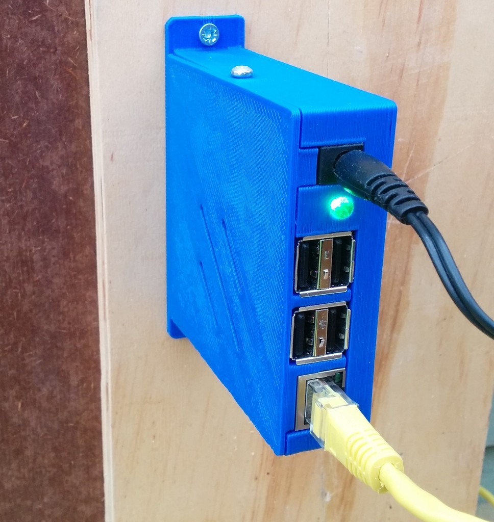 Raspberry Pi Wall Mounted Case 3dthursday 3dprinting