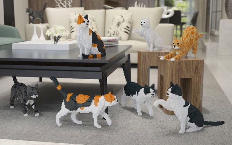 Cat lego sculptures 1