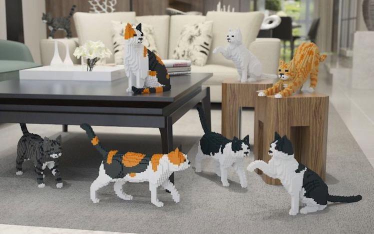 Cat lego sculptures 1