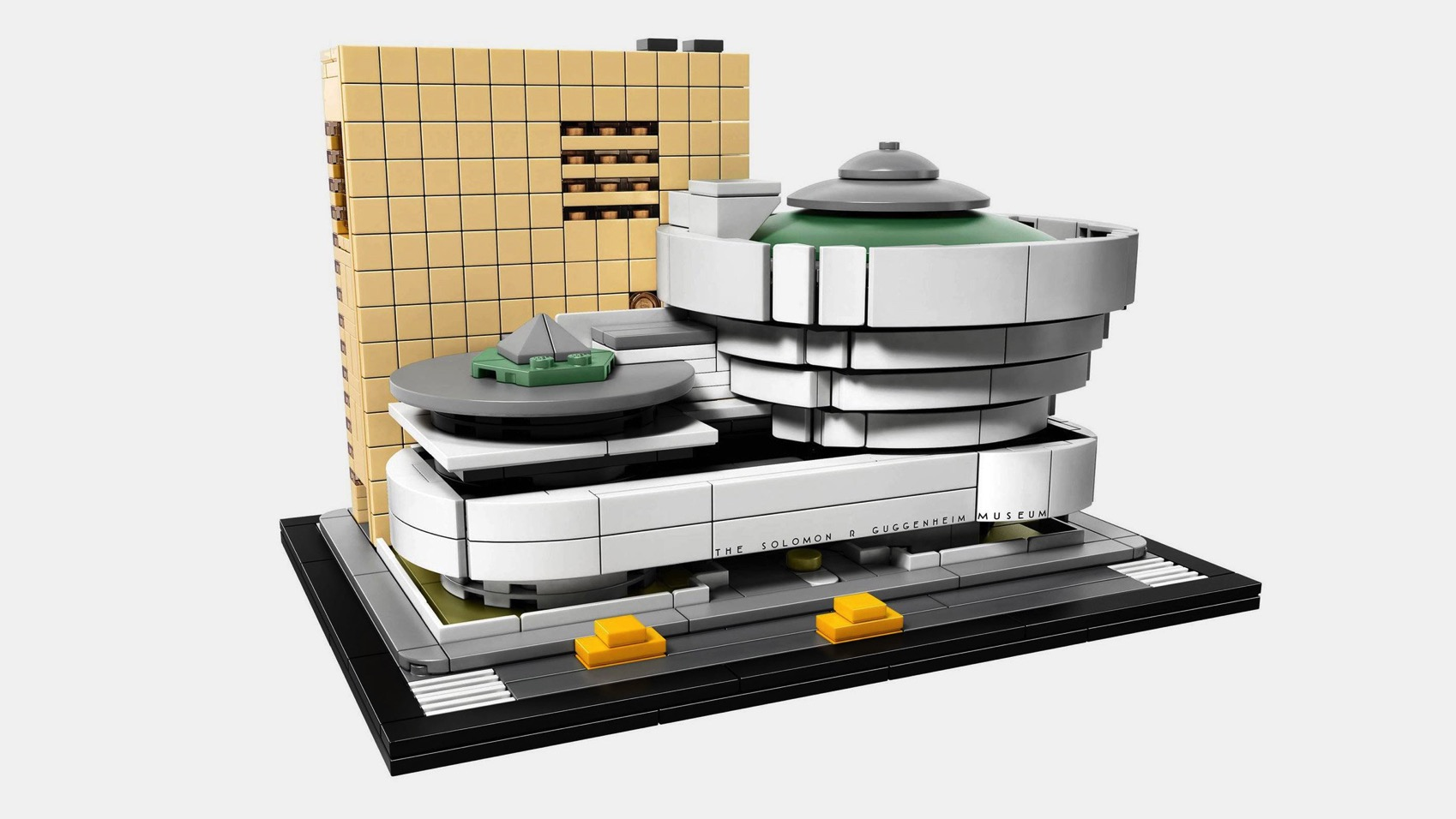 Lego guggenheim news design products toys architecture dezeen hero