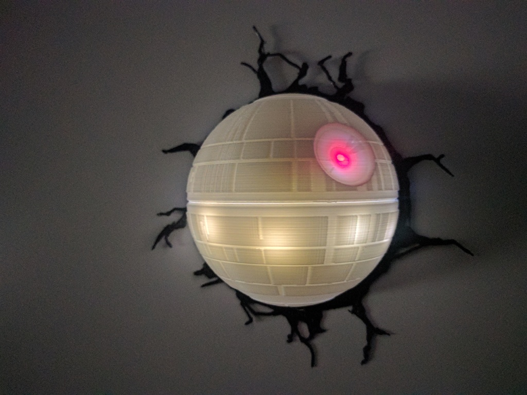 death star lamp by discostu 3dthursday 3dprinting adafruit industries makers hackers. Black Bedroom Furniture Sets. Home Design Ideas