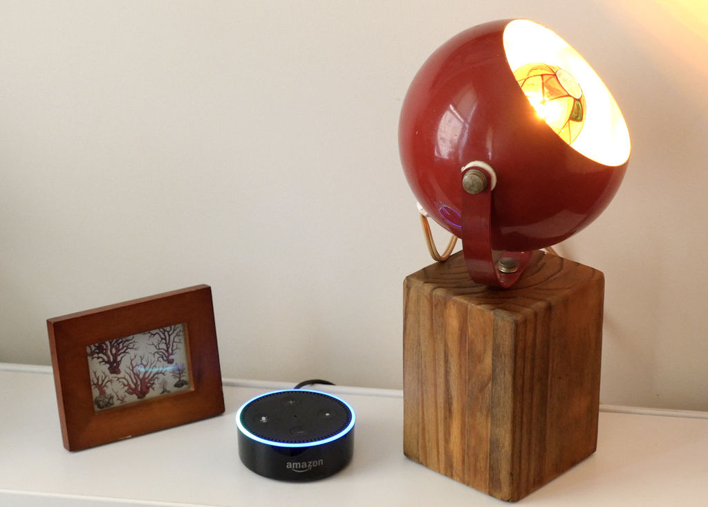 'Smart Lamp' with Physical Switch or @AmazonEcho Voice Control by @bekathwia