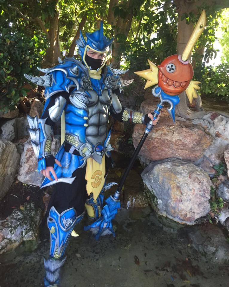 pok u00e9mon gyarados armored costume is ready for battle