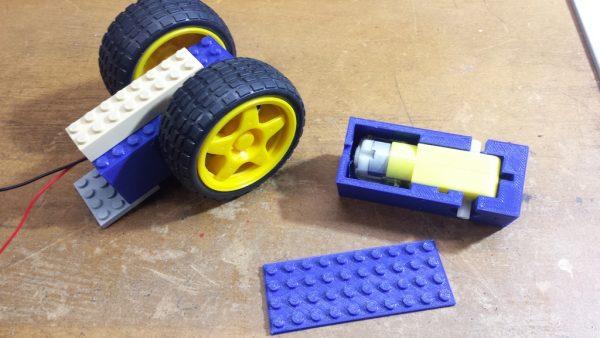Lego compatible 2 Axis TT Motor housing #3DThursday #3DPrinting