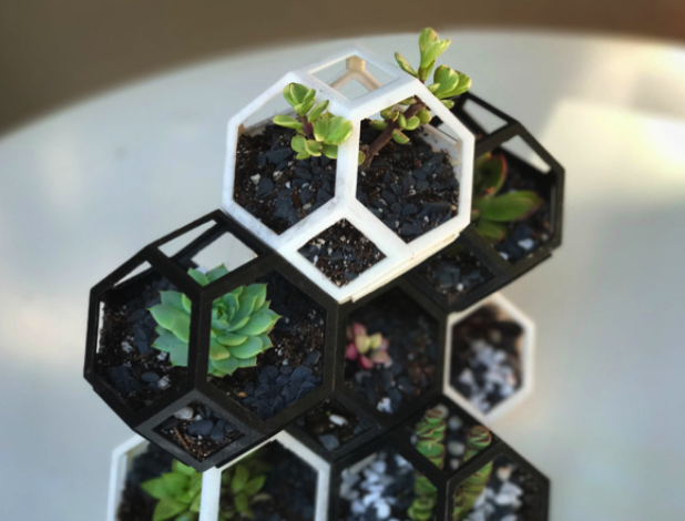 YouMagine Plantygon Modular Geometric Stacking Planter by Sam W YouMagine 🏠 2