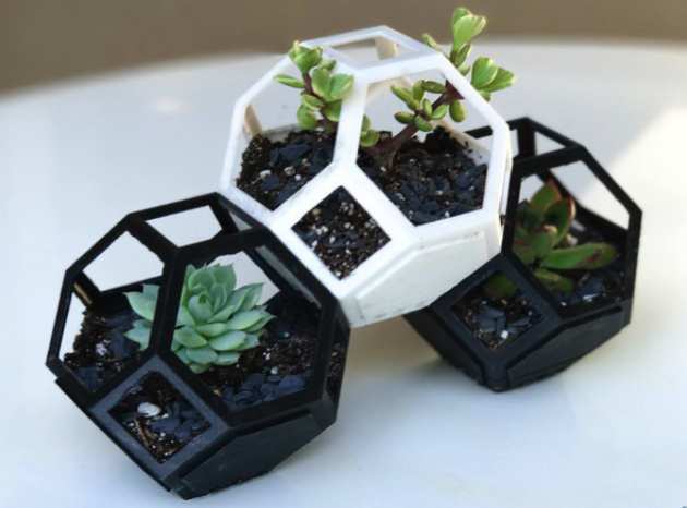 YouMagine Plantygon Modular Geometric Stacking Planter by Sam W YouMagine 🏠